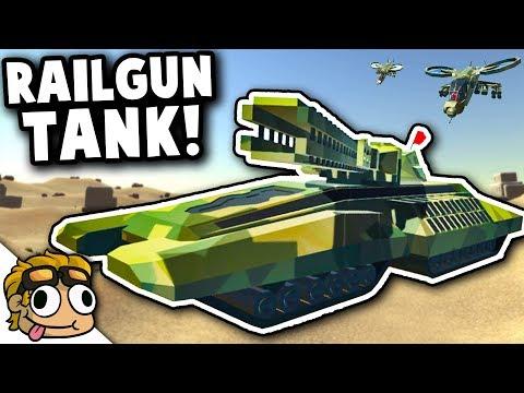 RAILGUN TANK and FUTURISTIC VEHICLES! | Ravenfield Best Mods