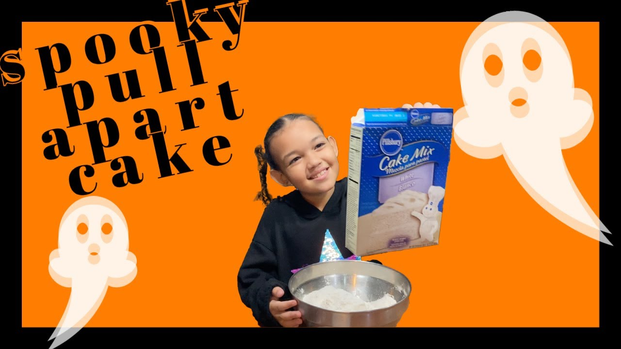 Trick or Treat! Halloween Baking   Ghost Pull Apart Cake