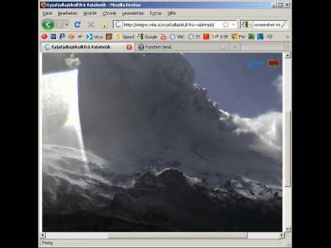 Lightning Tornado @ Eyjafjallajökull Volcano / Iceland - Electric Anomaly