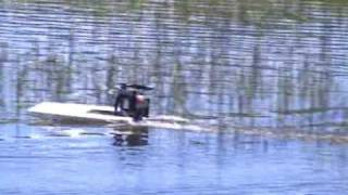Rc flat bottomed airboat