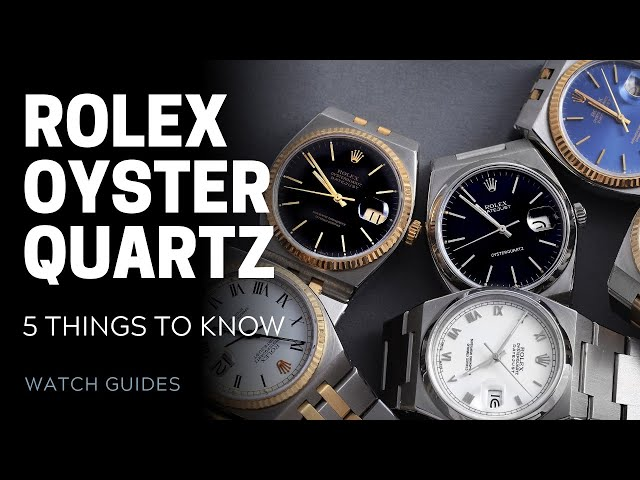 Rolex Oysterquartz: 5 Things to Know | SwissWatchExpo [Rolex Watches]