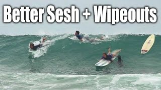 Better Waves & Better Surfing This Time - Plus Wipeouts