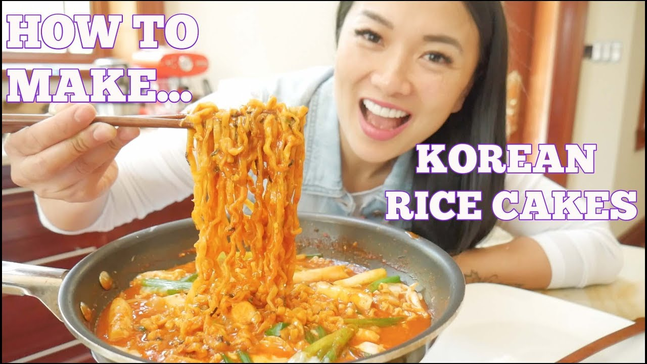 Video HOW TO MAKE KOREAN SPICY RICE CAKES (*LETS EAT) | SASVlogs