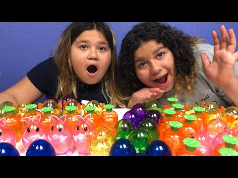 DIY SLIME EASTER EGGS - MAKING 4 GALLONS OF CLEAR EASTER SLIME