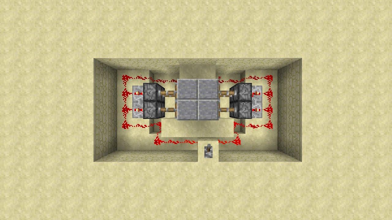 Minecraft Tutorial 2x2 Jeb door in the floor  sc 1 st  YouTube & Minecraft Tutorial: 2x2 Jeb door in the floor - YouTube