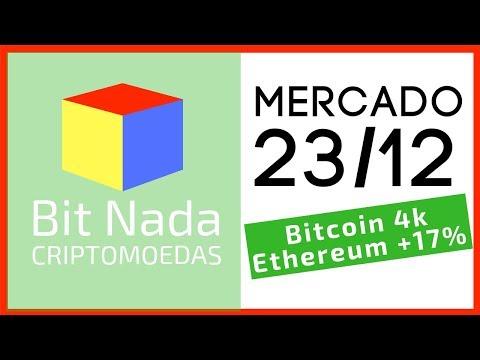Mercado de Cripto! 23/12 Bitcoin 4k / Ethereum +17% / Atari & Blockchain