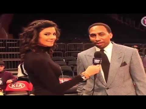 Stephen A Smith Flirting Making Moves Jay Harbaugh's Wife Hilarious SAVAGE