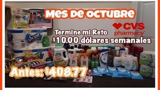 Comprando con $10.00 semanales en CVS •• Mi Reto del Mes de octubre ••
