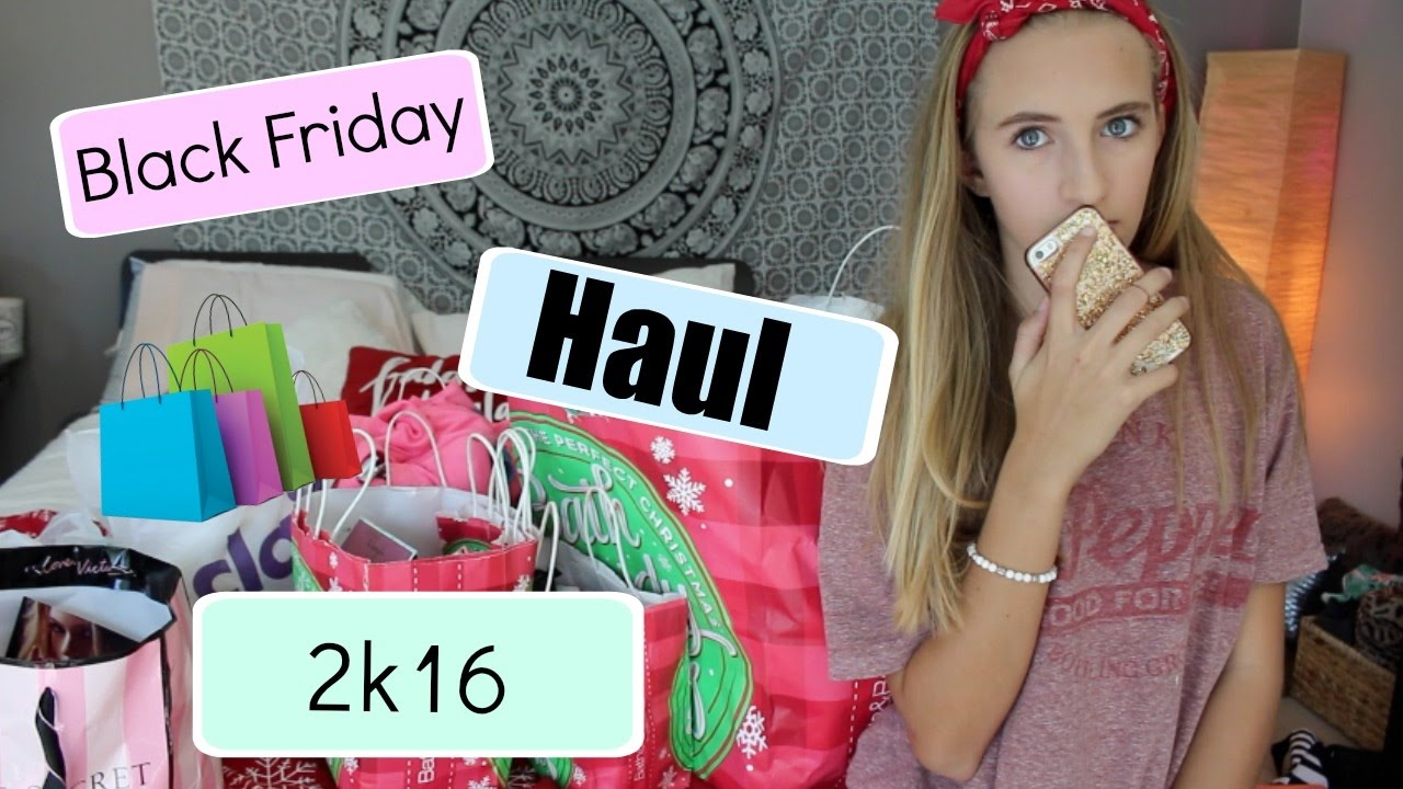 Black Friday Haul 2016 I Kaelyn Pannier - YouTube