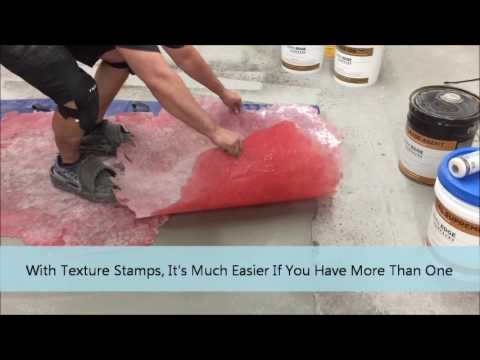 How to do Horizontal Stamped & Carved Concrete Overlay Step 3 of 4 Mp3