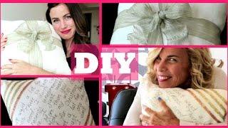 EASY DIY Holiday Pillows ❤ (Cute Holiday Decor!!)
