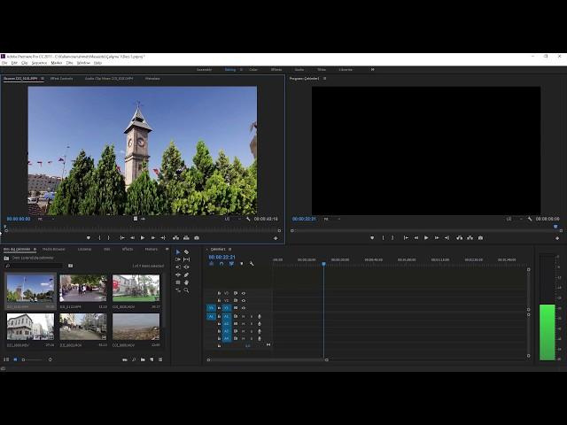 Premiere Pro Eğitimi 04 - Videoları zaman çizgisine taşımak