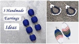 3 Handmade Earrings Ideas | How To Make Thread Earrings At Home | Creation&you