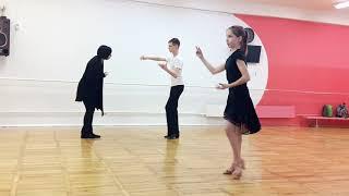 Индивидуальный урок у Константина и Насти с Ольгой Байдуковой