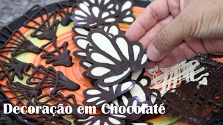 Como Fazer decoração para bolo com chocolate