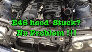 How To Open BMW E46 Stuck Hood With A Broken Cable  In Less Than 5 Minutes