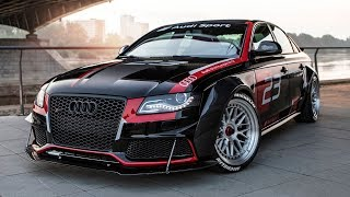 CRAZY PROJECT!! AUDI A4 B8 DTM - From a FWD 2.0TDI into a V8 quattro MONSTER - Don