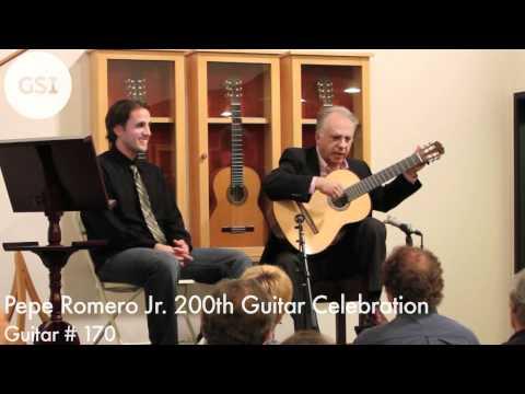 Pepe Romero Jr.'s 200th Guitar Celebration - #170: Classical Guitar at Guitar Salon International