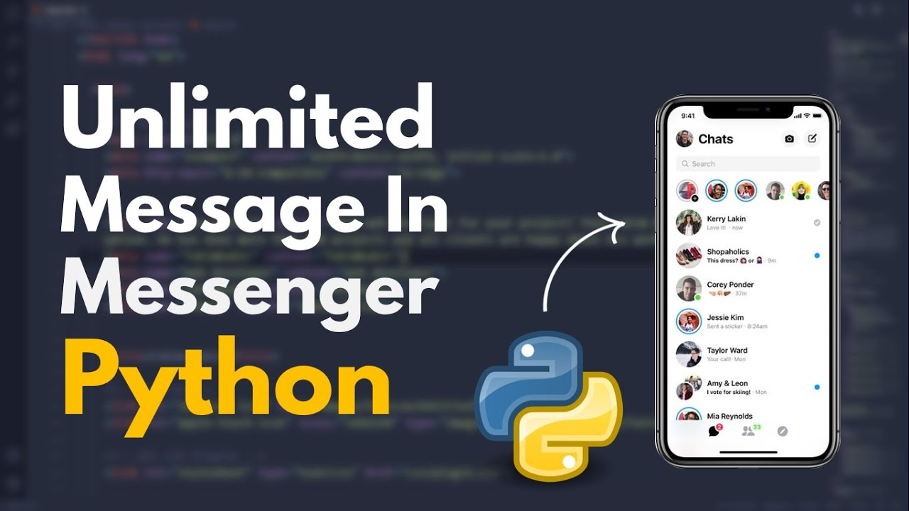 Sent Unlimited Message In Facebook Messenger & Whats app Using Python
