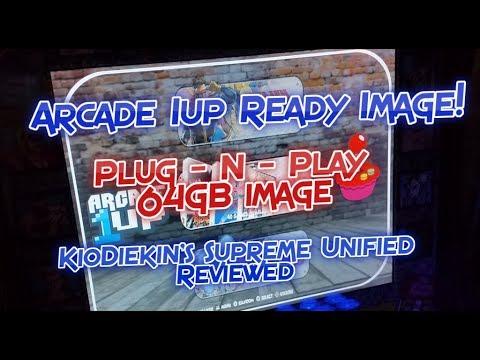 Arcade 1UP Retropie Arcade Image Supreme 64GB Unified Plug-N-Play Mod For Raspberry Pi 3 A/B/B+