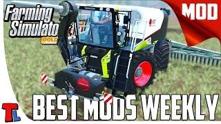 Farming SImulator 2015 Mods - Futuristic Tractor, Mega Slury Tank  And More -  4K 60 fps