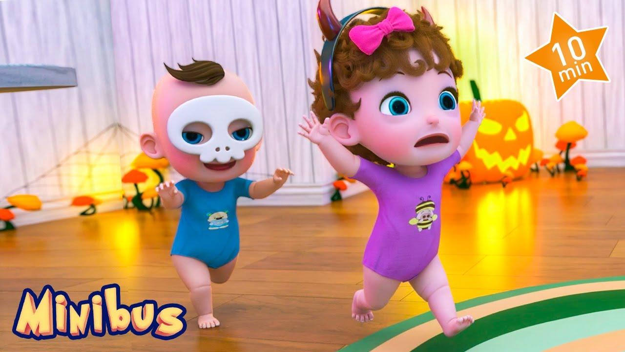 Little Monsters + More Halloween Nursery Rhymes & Kids Songs - Minibus