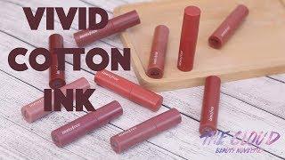 INNISFREE VIVID COTTON INK NEW COLORS | Swatch các màu từ 11 đến 15