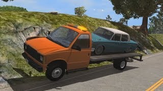 Flatbeds & Trailers Jumps and Crashes 5 | BeamNG.drive