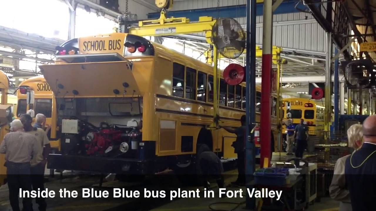 Blue Bird Bus >> Tour of Blue Bird Corp. bus plant in Fort Valley - YouTube