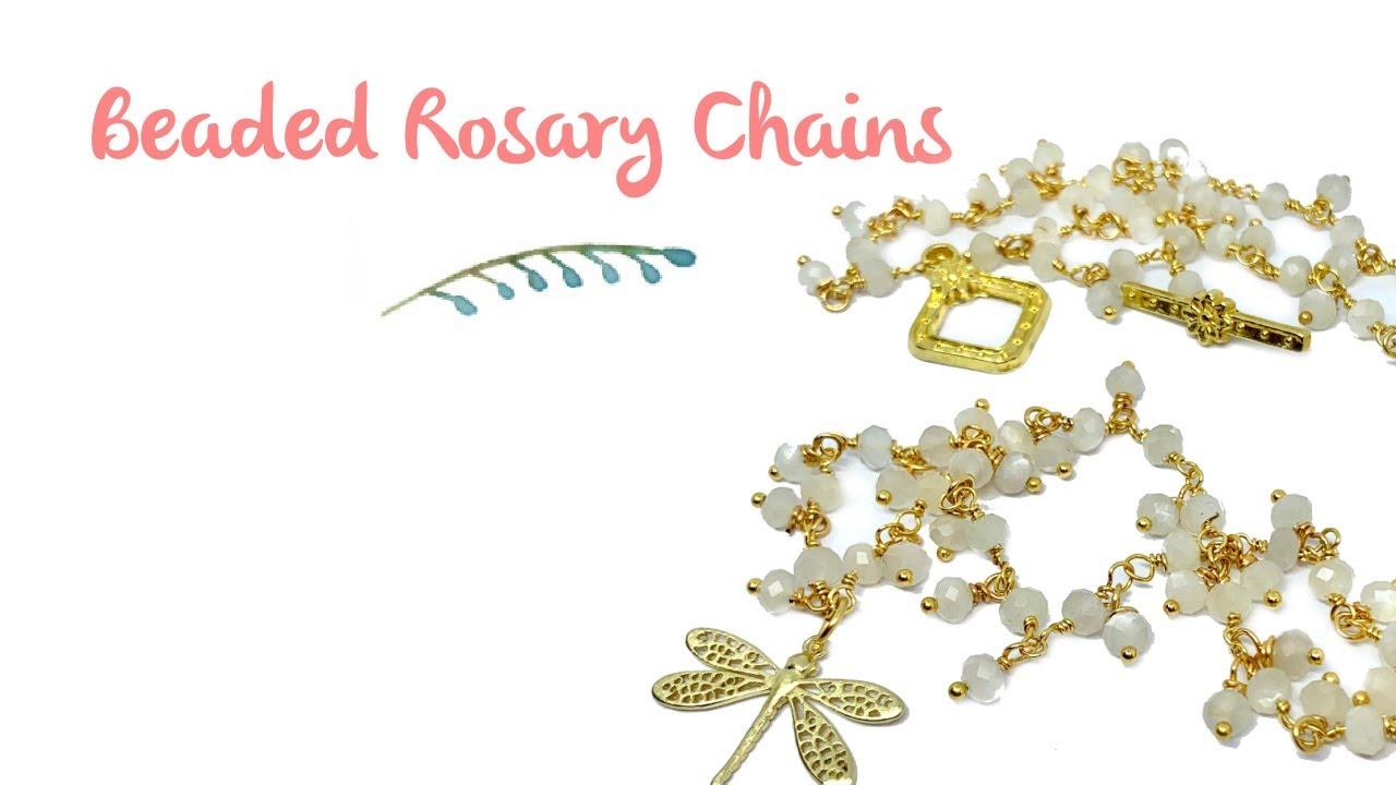 Beaded Rosary Chain Tutorial