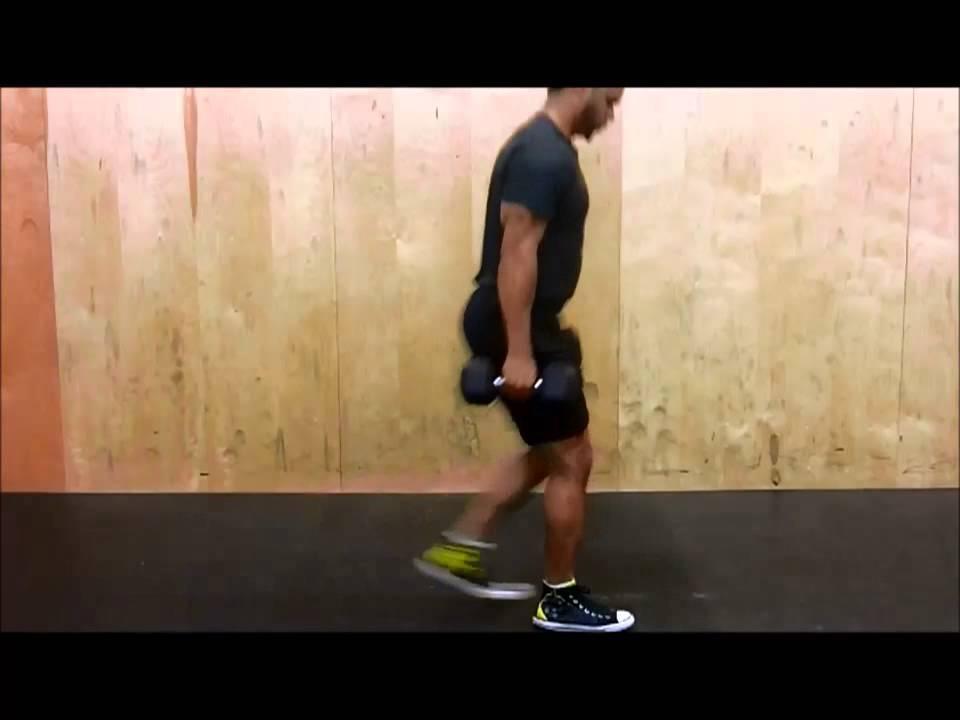 Alternating Dumbbell Reverse Lunge - YouTube