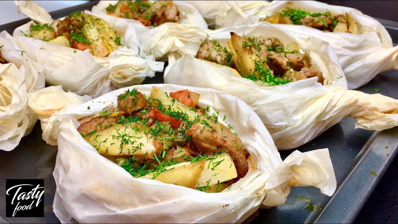 Как Просто, Вкусно и Красиво Запечь Картошку в Духовке! «Картошка с Мясом и Овощами в Духовке Рецепт»
