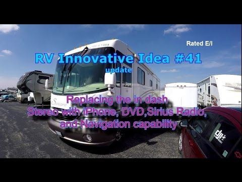 RV Innovative Idea #41 ~ Installing A New In Dash Stereo Radio