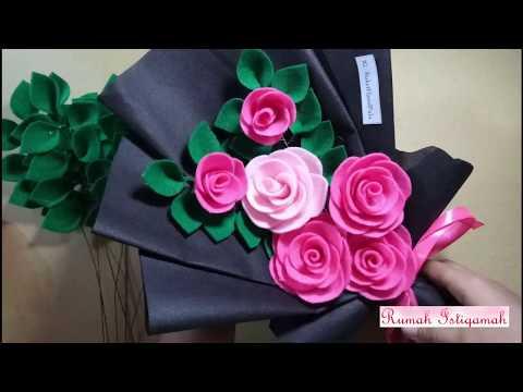 Cara Membuat Daun Untuk Buket Bunga Dari Kain Flanel Mudah Dan Simple Youtube