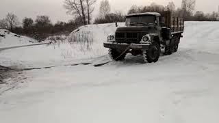 ЗИЛ 131 вытащил ГАЗ 52