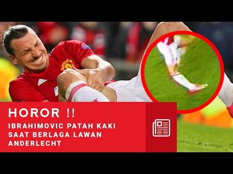 Video Detik Detik Ibrahimovic Patah Kaki