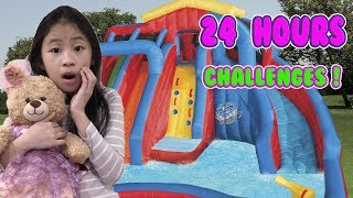 24 Hours In A GIANT BOUNCE HOUSE CHALLENGE