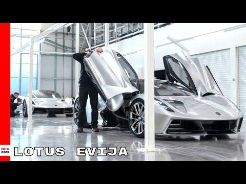 Electric Lotus Evija Hypercar Prototype Production Facility