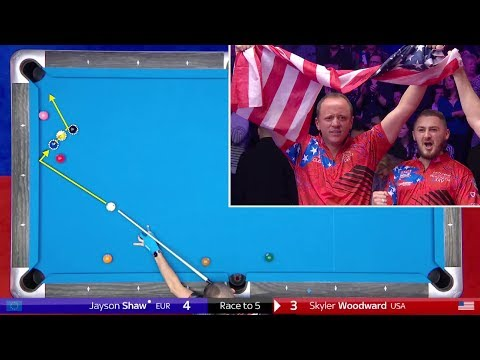 TOP 10 BEST SHOTS! Mosconi Cup 2018 (9-ball Pool)