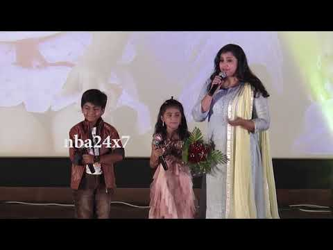 Theri Baby Nainika Cute Speech @Bhaskar...