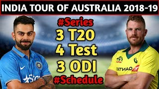India Tour of Australia 2018 - 2019 | Schedule, Date & Time, Venues & Fixture | India vs Australia