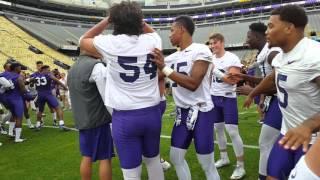 LSU Offense vs Defense Dance off