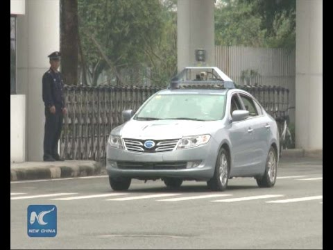 Chinese driverless car on display in Guangdong