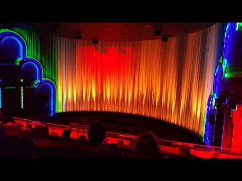 Star Wars Force Awakens curtain lightshow at Warren Theater in Broken Arrow, OK !