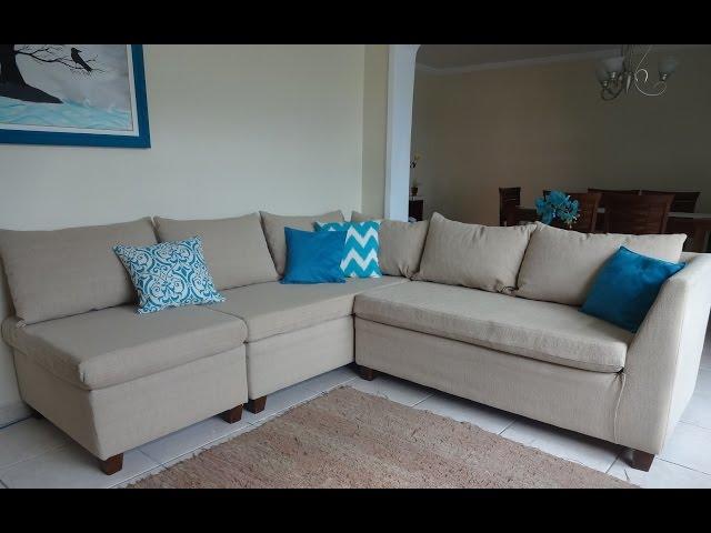 Como reformar o sofá - fotos do passo a passo