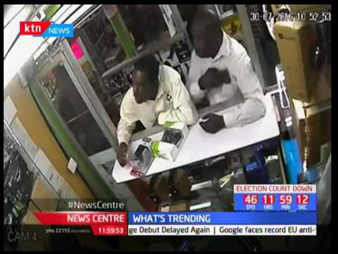 A man caught in the act of stealing 2