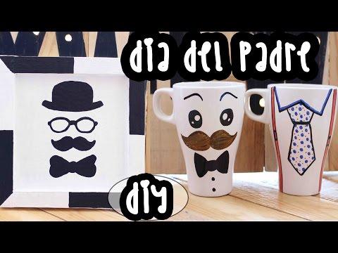 Regalo de EL DÍA DEL PADRE!! Portallaves de CARTÓN y Tazas DECORADAS - Mery
