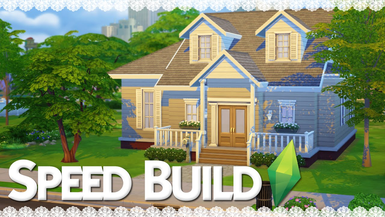 The Sims 4 Speed Build Suburban Family Home Part 1