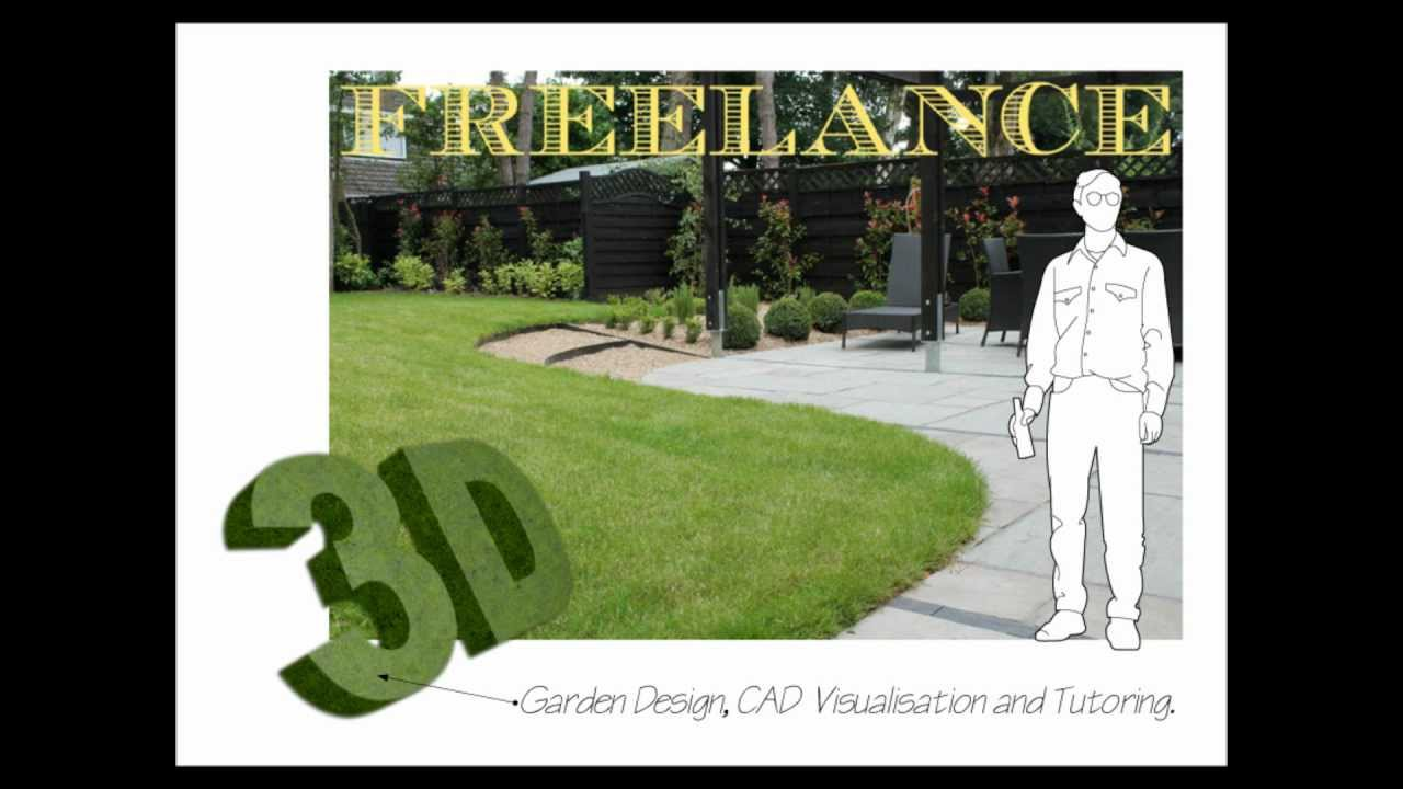 freelance london garden design 3d sketchup cad visualisation tutoring youtube