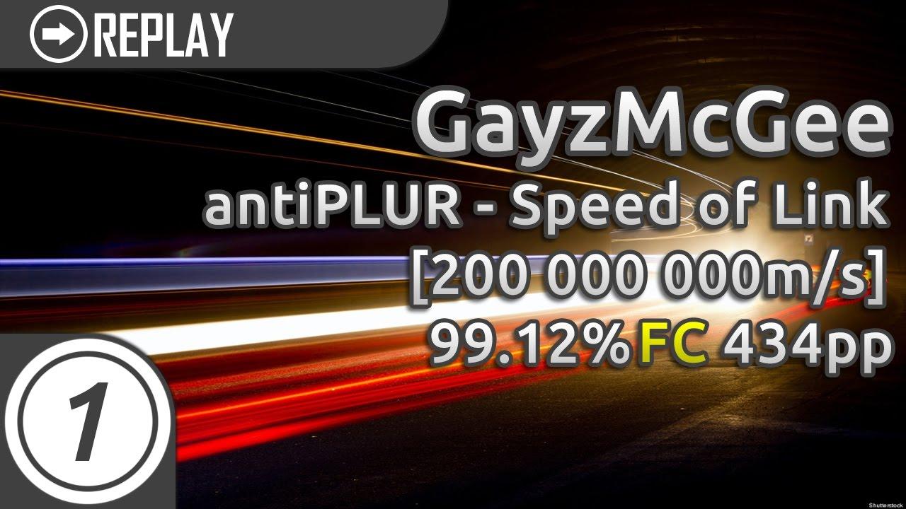 Download Gayzmcgee   antiPLUR - Speed of Link [200 000 000m/s] 99.12% 434pp